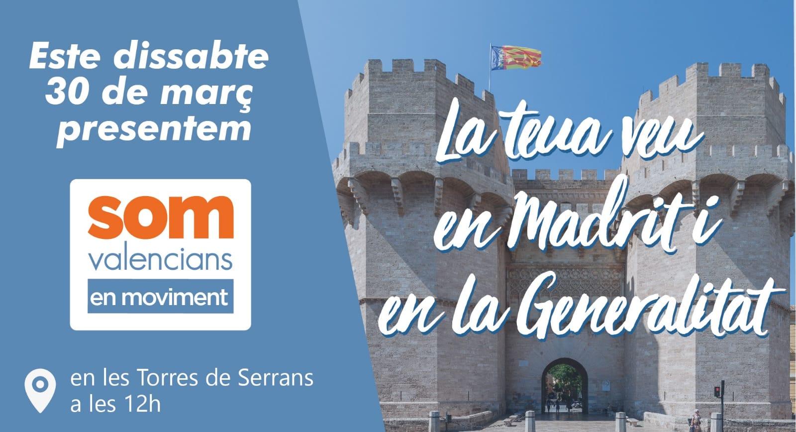 Presentamos la coalición SOM VALENCIANS EN MOVIMENT